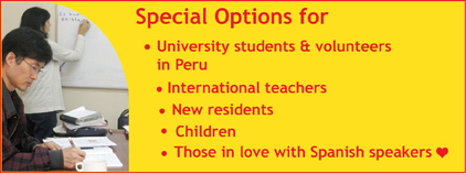 For university students and volunteers in Peru, international teachers, new residents, children and those in love with Spanish speakers.